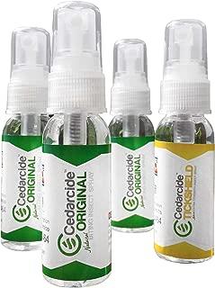Cedarcide Original + Tickshield Family 4-Pack Cedar Oil Flea & Tick Bug Spray