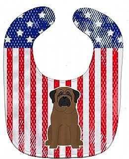 Caroline's Treasures BB3079BIB Patriotic USA Baby Bib, Bullmastiff, Large