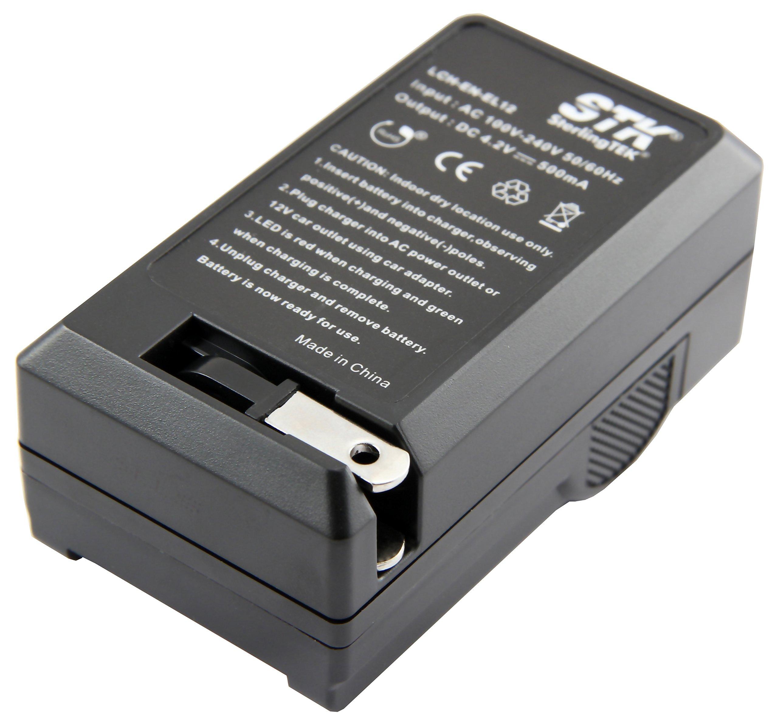 USB//Auto//Secteur S31 S8200 Chargeur S610c EN-EL12 pour Nikon Coolpix A900 liste P340 S9900 AW130 v