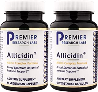 PREMIER RESEARCH LABS Allicidin - Supports Both Immune and Cardiovascular Health (60 Capsules),  2 Pack