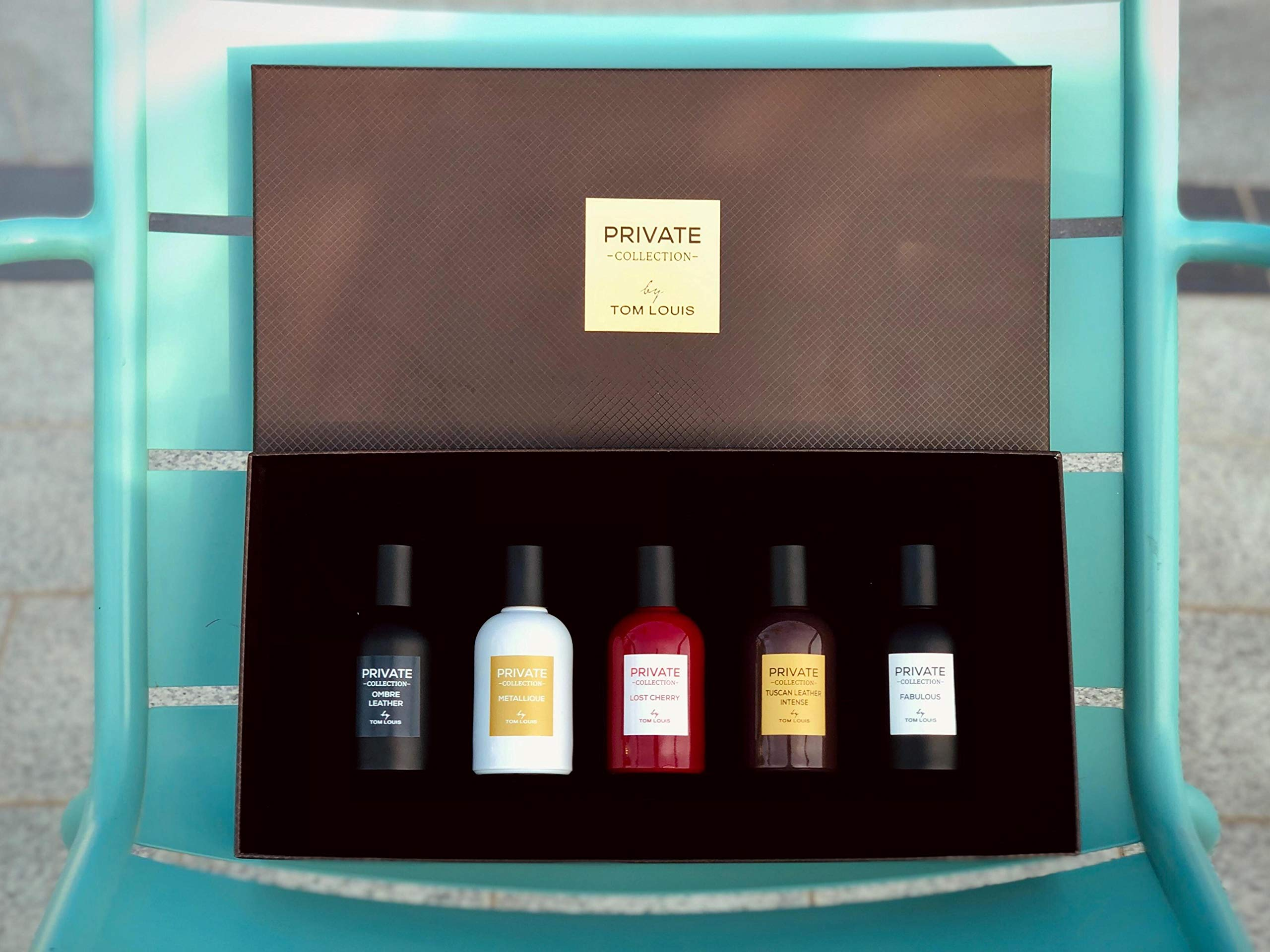 Perfume gift set Private Collection by my perfumes 5 unisex fragrances 50 ml Eau de parfum gift set for her and him spicy, floral, musky perfumes Gift for women and men
