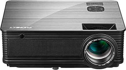 "$199 » Projector, PHONECT Video Projector, 3600 Lumens Office Projector, 200"" Display, Support 1080P, Compatible with Fire TV Stick, PS4, HDMI, for Business and Home Theater"