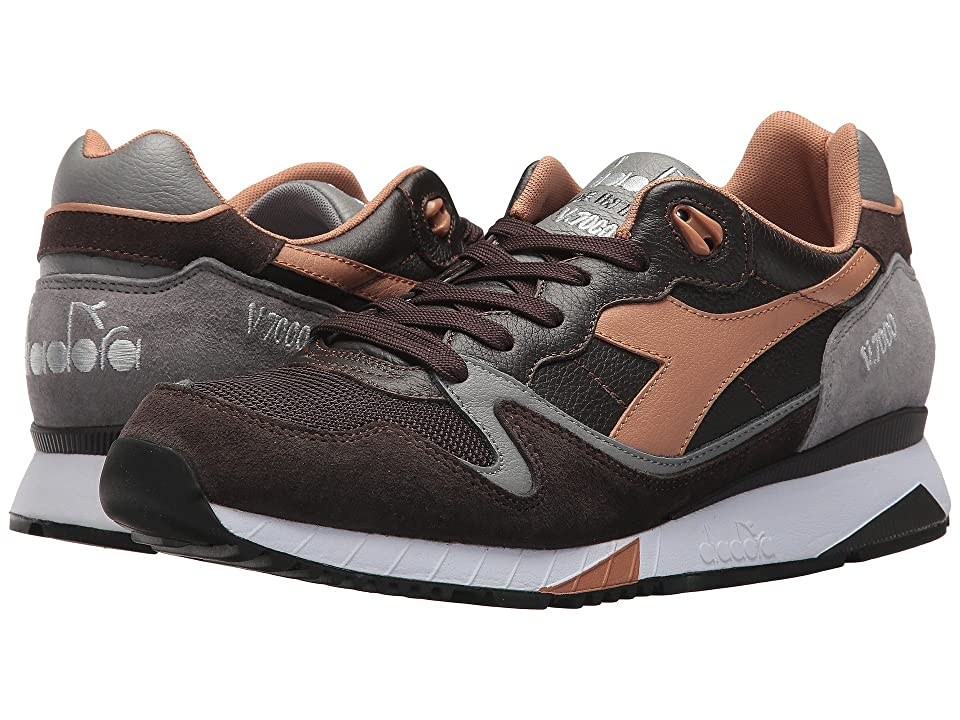 Diadora V7000 Italia (After Dark/Frost Gray) Athletic Shoes
