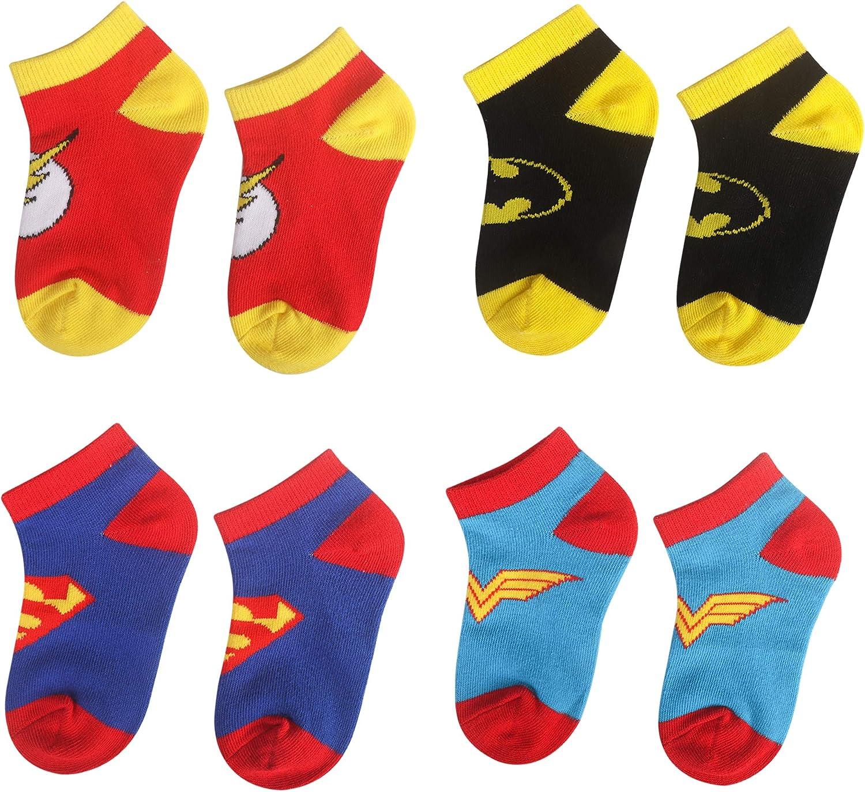 3-6 Years Old Kids Socks Cartoon Superman Spiderman Batman The Flash Design Children Cotton Socks for Unisex Boys Girls