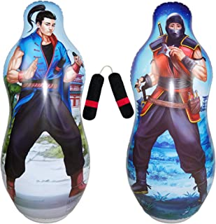 Inflatable Two Sided Punching Bag & Plush Nun-chuck Set | Includes one 48
