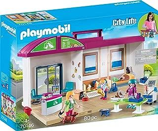 Playmobil 70146 City Life Travelling Animal Clinic, Multi-Colour