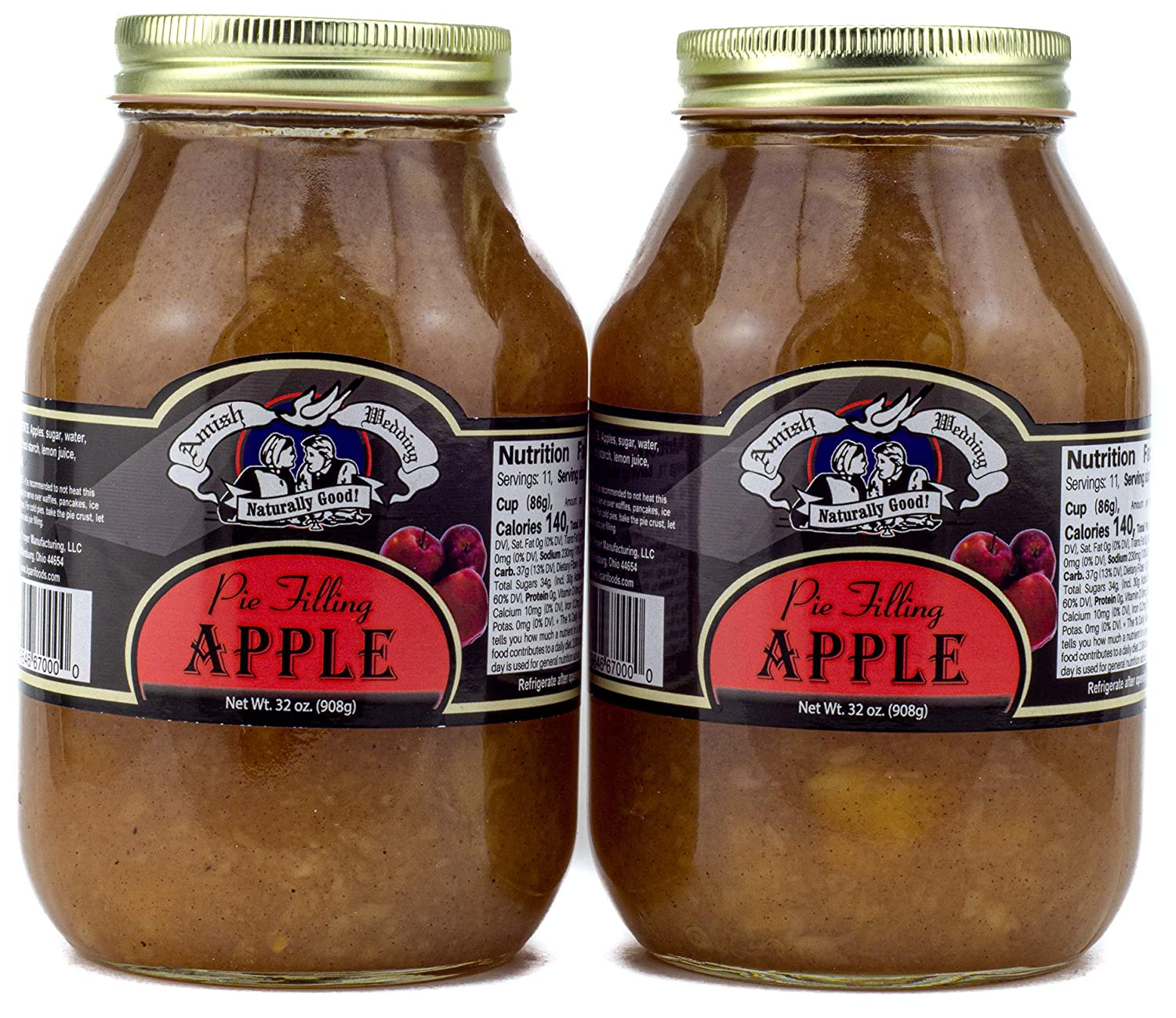 Factory outlet Amish Wedding Apple Pie Filling 2 Pack of Ounces 32 Cheap mail order specialty store