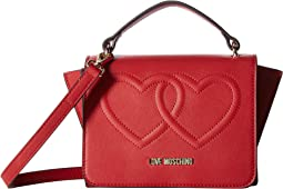 LOVE Moschino - Embossed Heart Crossbody with Handle