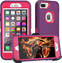 iPhone 8 Plus Case,iPhone 7 Plus Case,iPhone 6 Plus Case,FOGEEK[Dust-Proof]Belt-Clip Heavy Duty Kickstand Cover[Shockproof] PC+TPU for Apple iPhone 7 Plus,iPhone 6/6s Plus(Purple and Rose)
