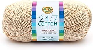 Lion Brand Yam 761-098 24-7 Ovillo de lana de algodón,