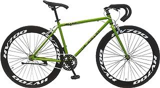 Helliot Bikes Brooklyn 36 Bicicleta Fixie Urbana, Adultos Unisex, Verde, M-L