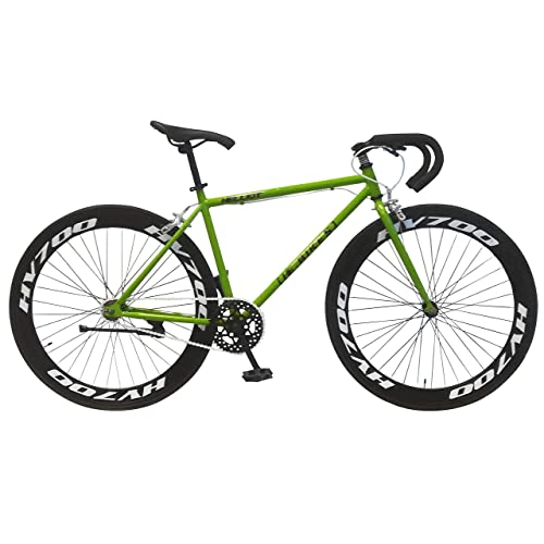 Helliot Bikes Fixie Brooklyn H36 Bicicleta Deportiva, Unisex Adulto, Verde, Estandar