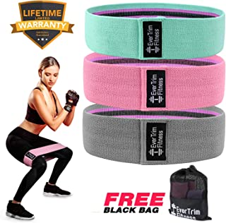Resistance Exercise Bands for Legs and Butt,Workout Bands Hip Bands Wide Booty Bands Sports Fitness Bands Stretch Resistance Loops Band Anti Slip Elastic (2019 Upgrade)