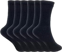 Cotton Crew Socks for Women Made in USA Smooth Toe Seam Socks