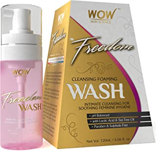 WOW Freedom Cleansing Foam Wash, Lactic Acid and Tea Tree Oil, 120ml