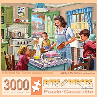 """Bits and Pieces - 3000 Piece Jigsaw Puzzle for Adults 26"""" x 39"""" - Kitchen Memories - 3000 pc Old Fashioned Classic Family ..."""