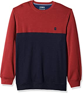 IZOD Men's Big and Tall Advantage Performance Colorblock Fleece Soft Crewneck Pullover