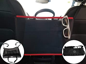 Car Storage Pockets for Purses Bags Front Seat Handbag Holder Smaller Items Helps as Dog Barrier Driver Storage Netting Pouch ZS ZHISHANG Car Net Pocket Handbag Holder Driver Storage Netting Pouch