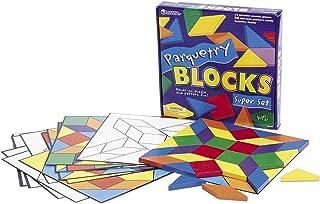 子ども さんすう 寄せ木ブロックとパターンカードセット Parquetry Blocks Super Set LER0289