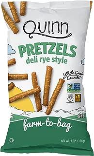 Quinn Snacks Non-Gmo & Gluten Free Pretzels, Deli Style Rye, 7 Oz Bag (8Count)