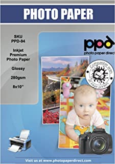 PPD 8X10 Papel fotográfico brillante SUPER Premium 280 g - 50 hojas