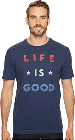 Life is Good - Red White Good Crusher Tee
