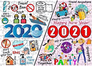 2020 to 2021 Jigsaw Puzzles for Adults, Kids, Paper Puzzles with Friend Family for Children Home Game Educational Toys Happy New Year, 1000 Pieces