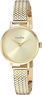 RumbaTime Women's 'Hudson Weave' Quartz Stainless Steel and Gold Plated Casual Watch(Model: 28324)