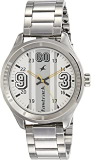 Fastrack Varsity Analog Silver Dial Men's Watch - 3177SM02