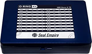 Seal Empire Inches ASTM NBR O-Ring Assortment Kit 382 Pieces w/o Burr