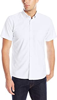 Uniform Young Men's Short Sleeve Button-down Oxford Shirt
