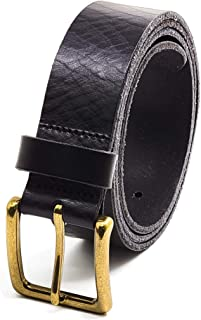 أحزمة رجالي جلد أصلي محبب بالكامل، عرض 35 مم، حزام كاجوال أسود، بني، بني