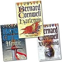 Bernard Cornwell Grail Quest 3 Books Collection Set Pack (Vagabond, Harlequin, Heretic)