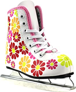 Girls American Flower Power Double Runner Ice Skate