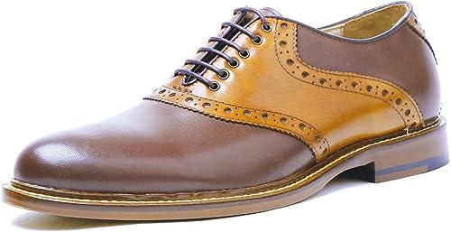 DESAI Homme Chaussures de Ville à Lacets Brogues Oxford