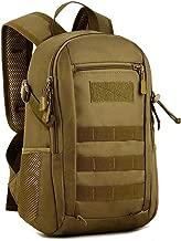 Huntvp 12L/20L Mochila de Asalto Militar Táctical Molle Bolsa Bandolera para Senderismo Caza Camping Color Negro Marrón