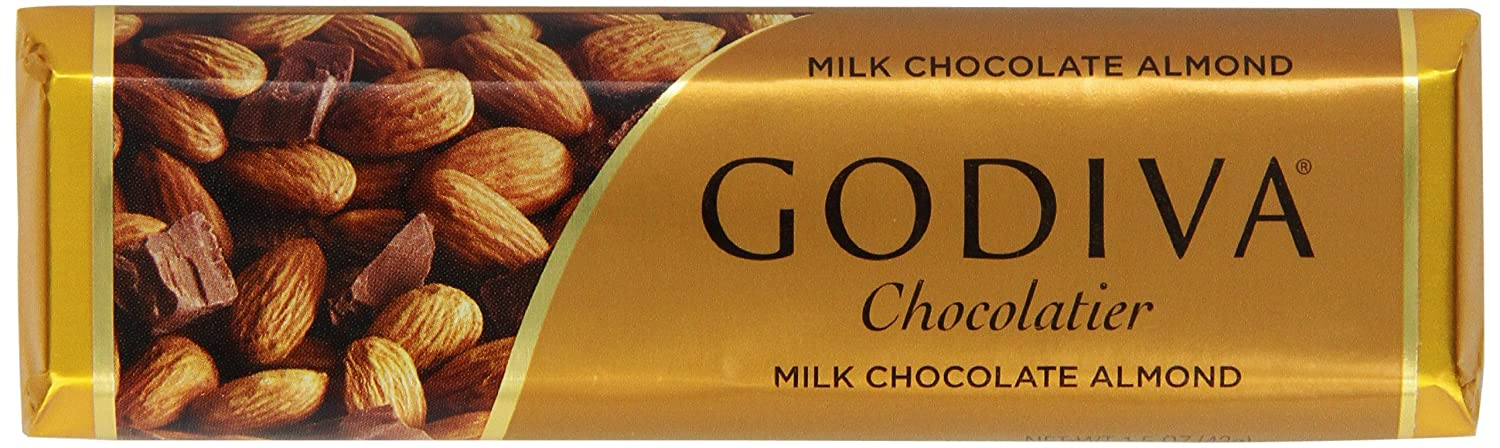 Godiva Milk Chocolate Bar with 1.5000-ounces Pack online shop Almonds of Bombing new work 8