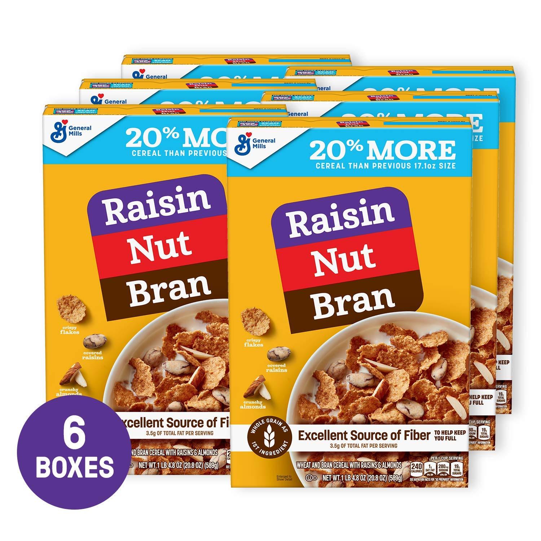 Raisin Nut Bran Cereal 20.8 oz Pack of 6