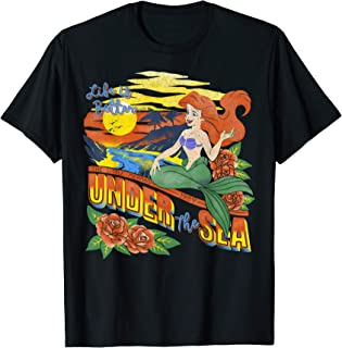 Disney Little Mermaid Ariel Tropical Vintage T-Shirt