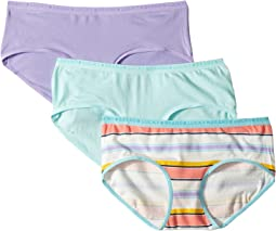 Multi Stripe 3-Pack Hipster (Little Kids/Big Kids)