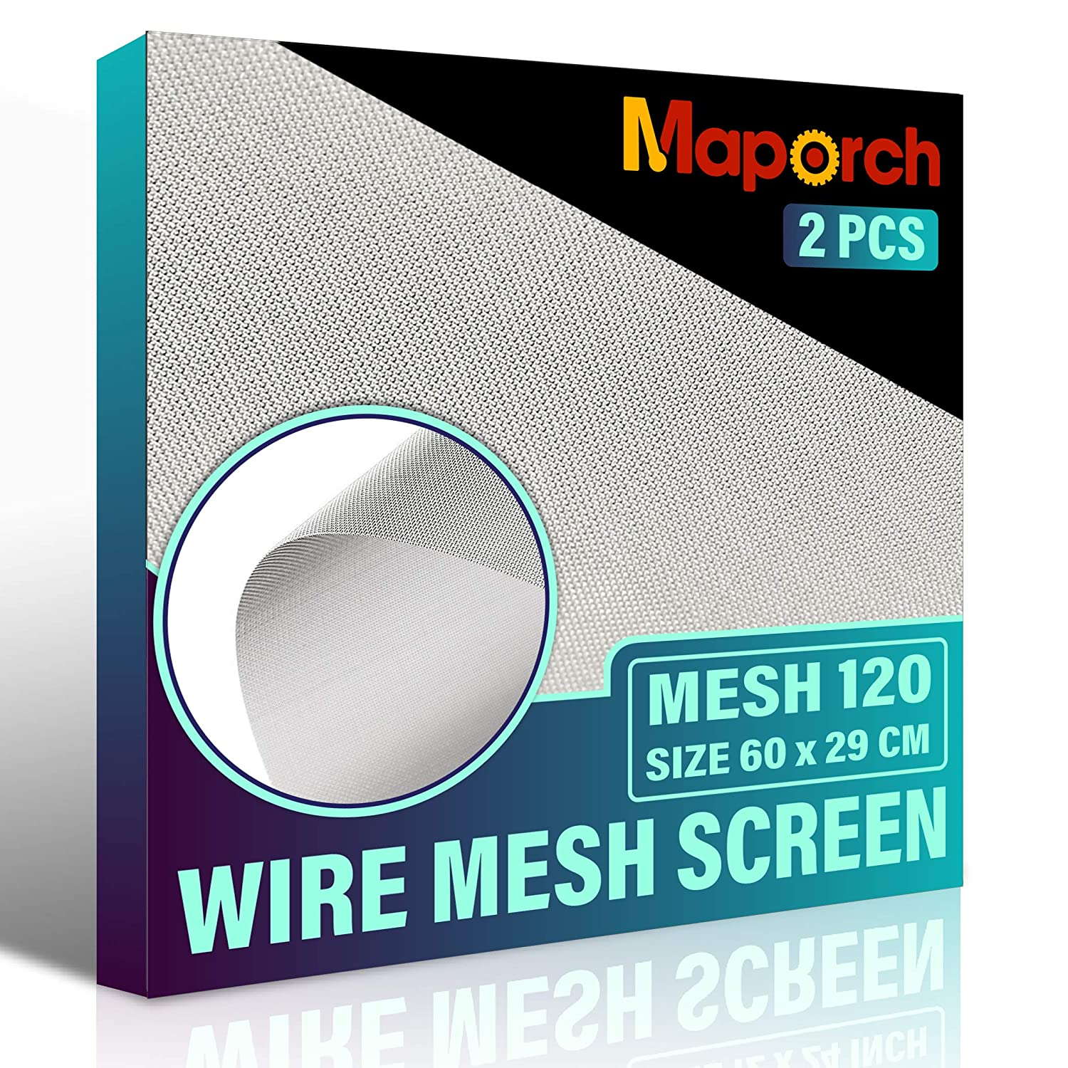 San Jose Mall MAPORCH 2 Pack 304 Stainless Steel Type Mesh Screen Wir Max 59% OFF 120