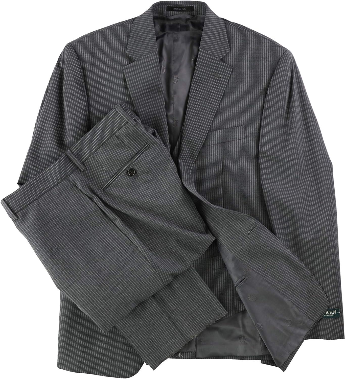 Ralph Lauren Mens Pinstripe Formal Tuxedo, Grey, 44 Regular / 38W x UnfinishedL