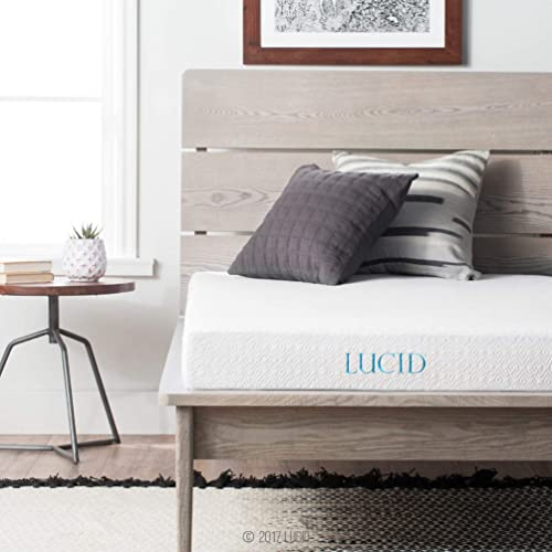 LUCID 5 Inch Gel Memory Foam Mattress - Dual-Layered - CertiPUR-US Certified