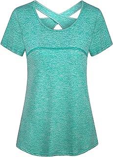 Viracy Women's Long Sleeve Yoga Tops Activewear Running Workout Shirt