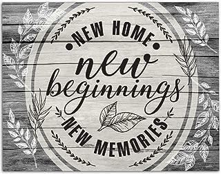 New Home New Beginning New Memories - 11x14 Unframed Art Print - Makes a Great Housewarming Gift Under $15