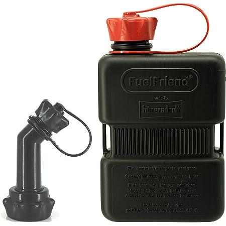 Fuelfriend Plus 1 0 Liter Sonderserie Black Klein Benzinkanister Mini Reservekanister Verschließbares Auslaufrohr Auto