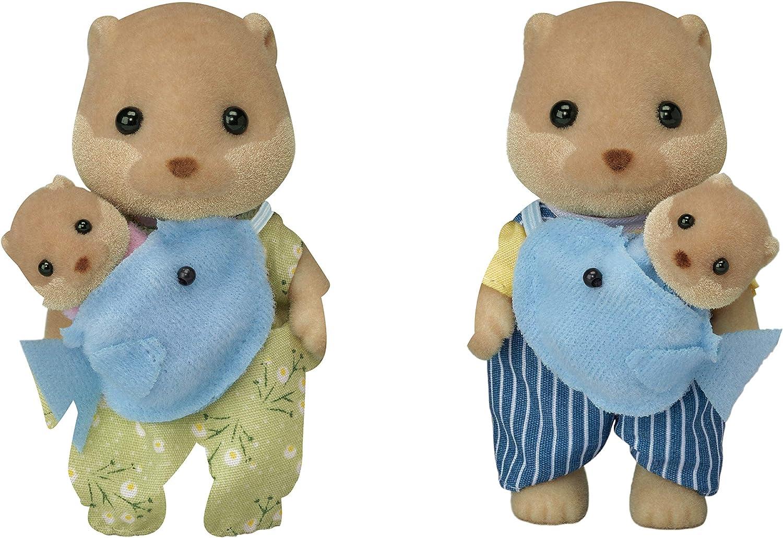 Calico Critters, Splashy Otter Family, Dolls, Dollhouse Figures, Multi