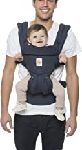 Ergobaby Carrier, Omni 360 All Carry Positions Baby Carrier, Navy Mini Dots