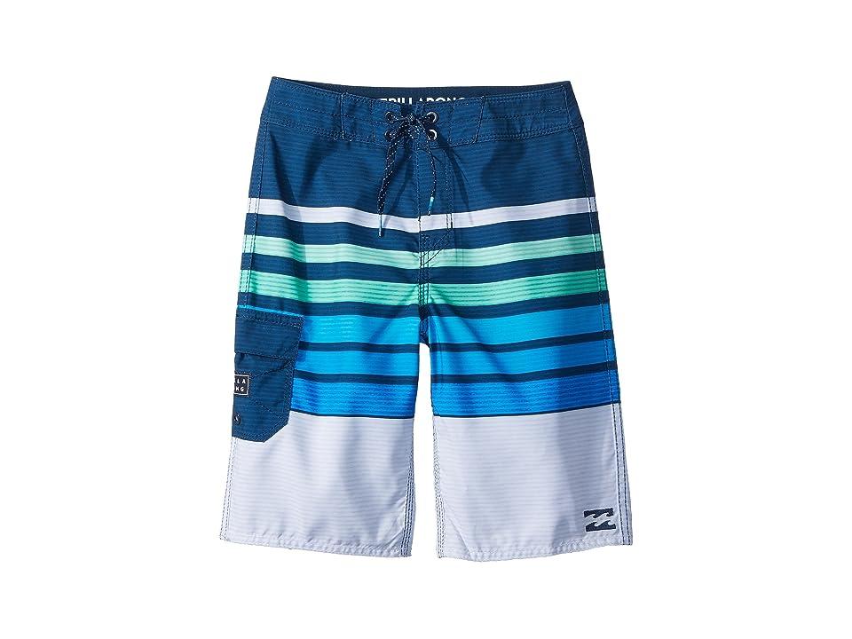 Billabong Kids All Day OG Stripe Boardshorts (Big Kids) (Blue) Boy