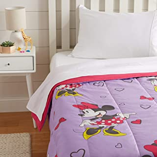 AmazonBasics by Disney Minnie Mouse Purple Love Comforter, Twin